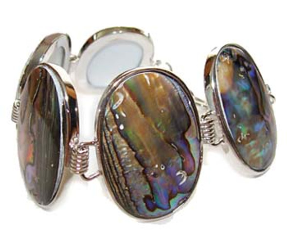7.5 - 8 inches  oval Abalone shell fashion bracelet