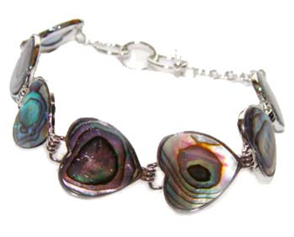 7.5 - 8.5 inches  heart Abalone shell fashion bracelet