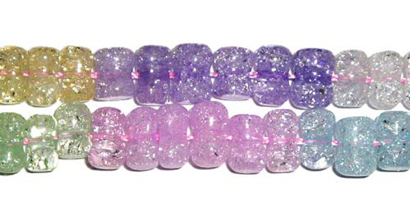 5x7mm Multi-color crystal dog-bone beads