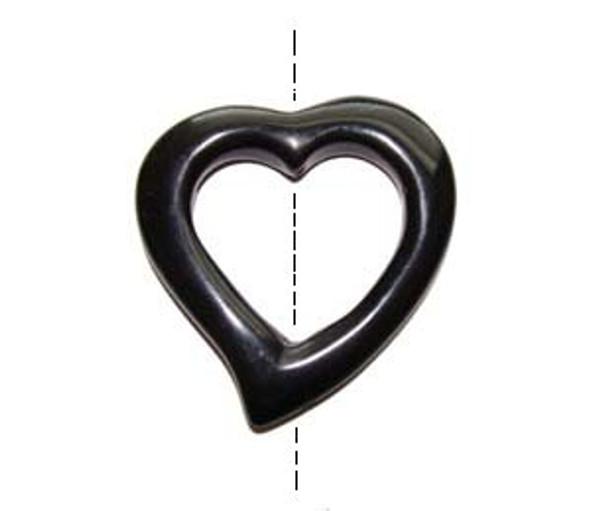 40x40mm Black onyx heart shaped pendant