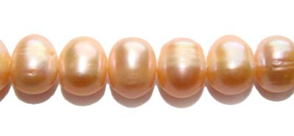 9 - 10mm Peach-colored potato pearls
