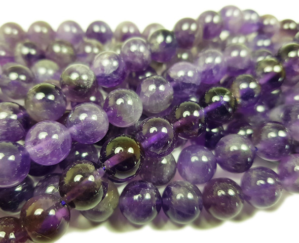 10mm Amethyst Round Beads