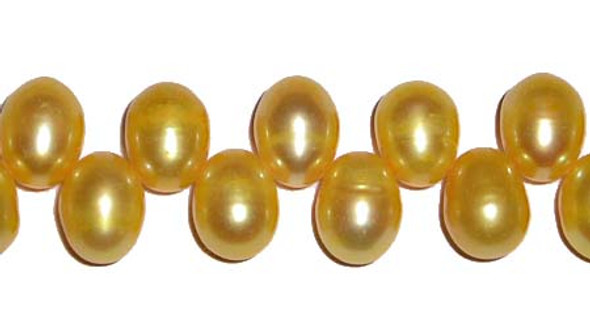 10mm Freshwater Pearl Bright Golden Drops