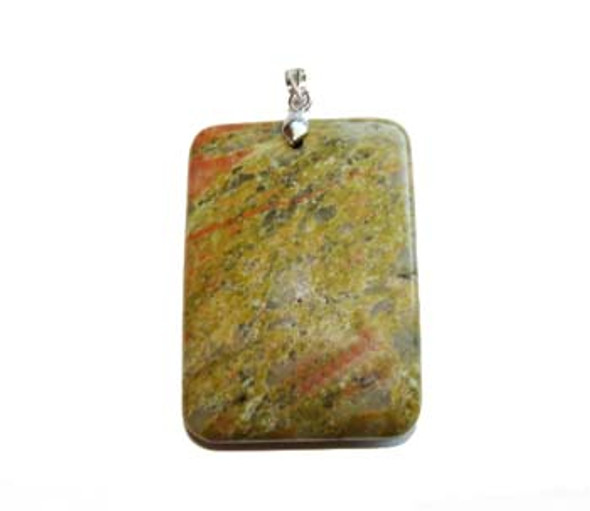 30x43mm Unakite rectangle pendant