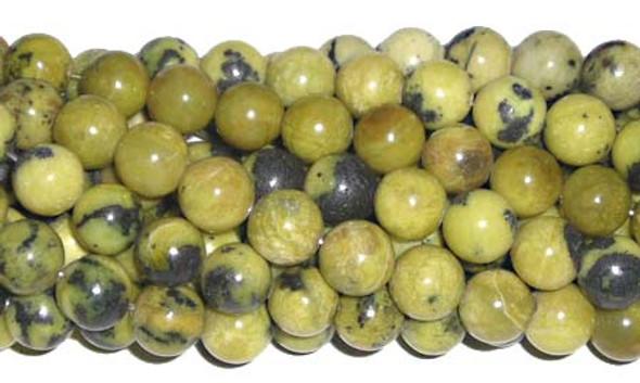 4mm Yellow Turquoise Round Beads