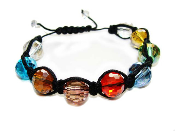 one size fits all  multi color AB finish Multi color AB finish bracelet