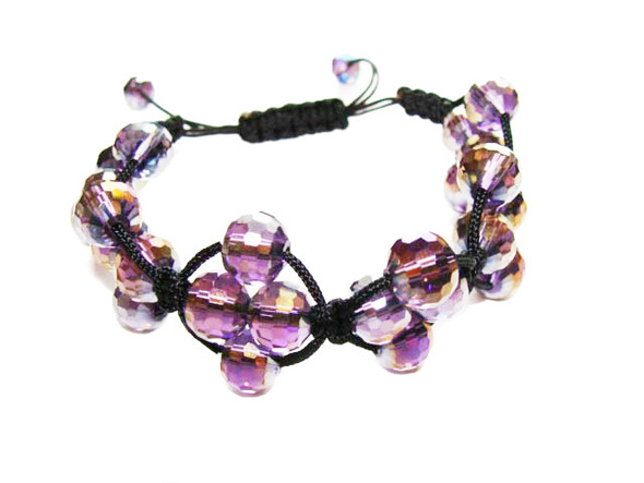 one size fits all Purple glass bracelet