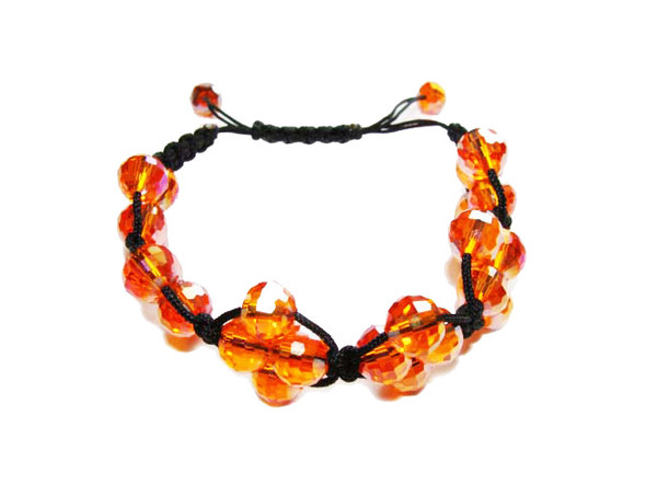 one size fits all Orange glass bracelet