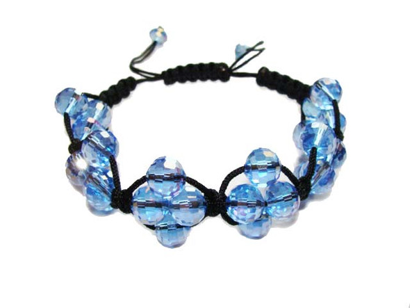 one size fits all Light blue glass bracelet