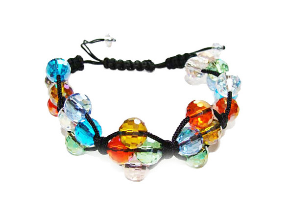 one size fits all Multi color glass bracelet