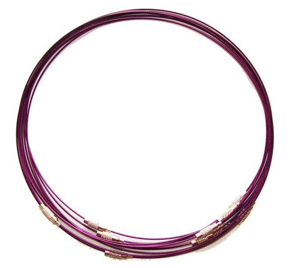 18 inches  burgundy  priced for five necklaces Cable wire round necklace