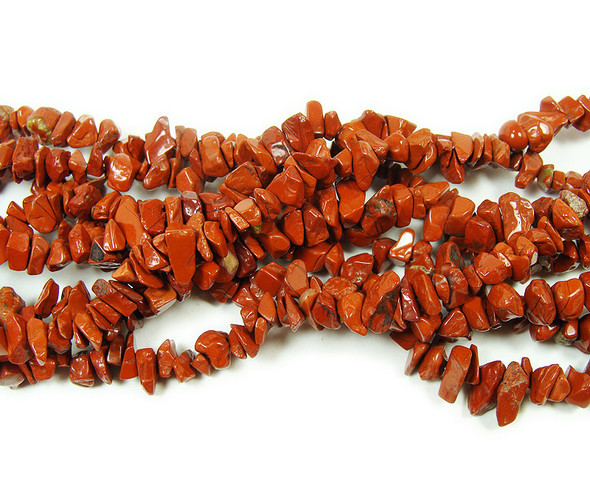 3x7mm  34 inches Red jasper chips