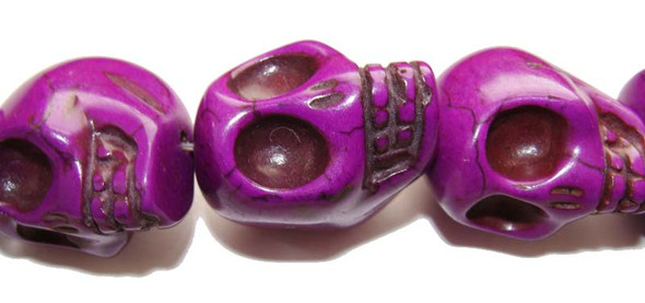 23x30mm  priced for one piece  purple Howlite skull pendant