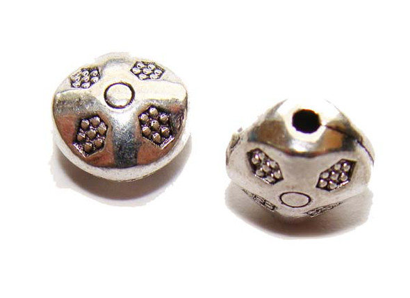 5x9mm  pack of 30 pcs Bali style pewter UFO beads