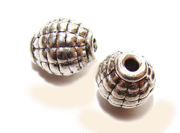 7x9mm  pack of 20 pcs Bali style pewter grenade beads
