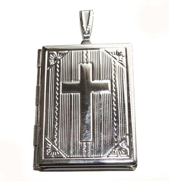 27x35mm Silver-Tone Rectangle Locket