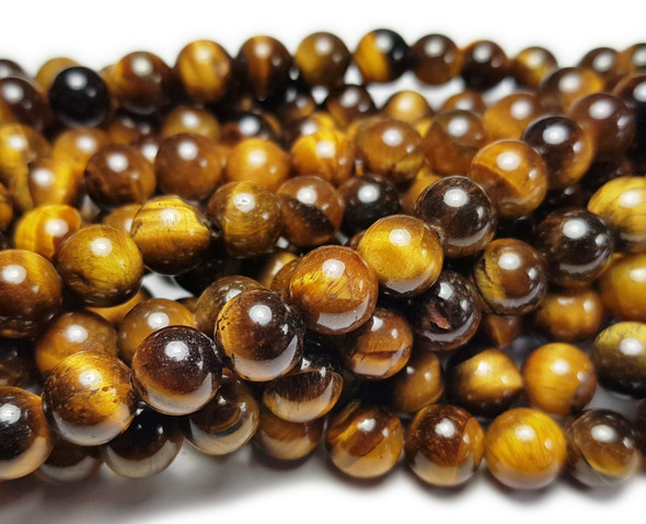 4mm Tiger Eye Round Beads