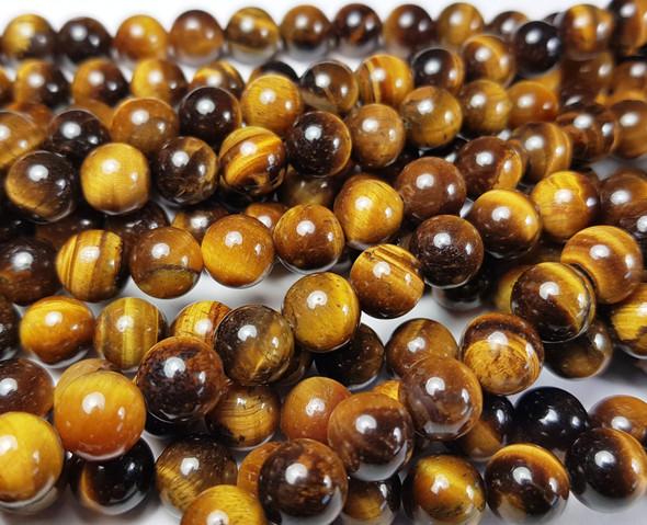 10mm Tiger Eye Round Beads