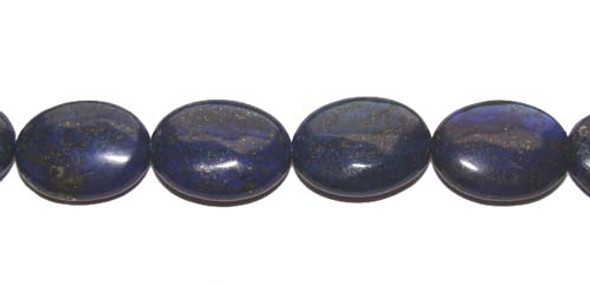 13x18mm Lapis Color-Enhanced Puffed Oval Beads