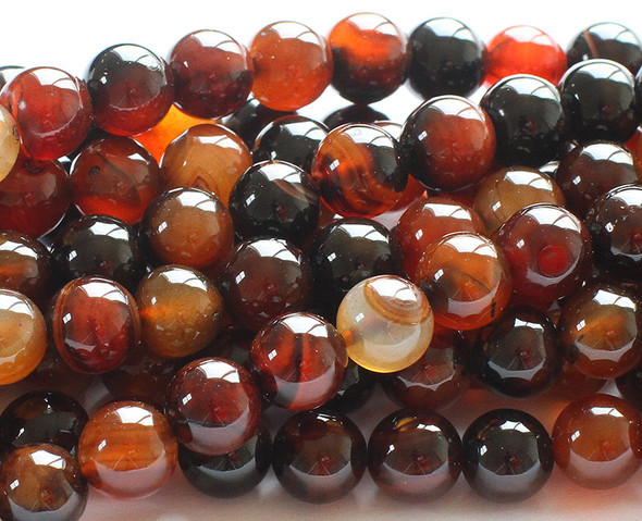 8mm 15.5 Inches Dream Agate Round Beads
