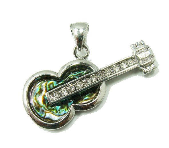 approx. 20x40mm Abalone shell guitar pendant