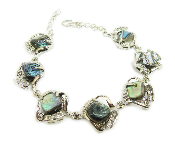 7.5 - 8 inches Abalone shell nugget fashion bracelet