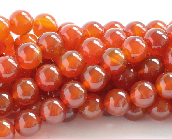 6mm Carnelian round beads