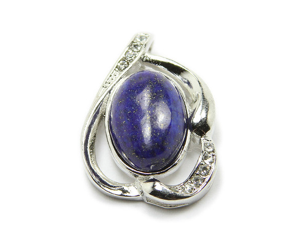 20x30mm Natural Lapis Oval Styled Pendant