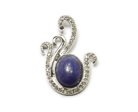 25x35mm Natural Lapis Oval Styled Pendant