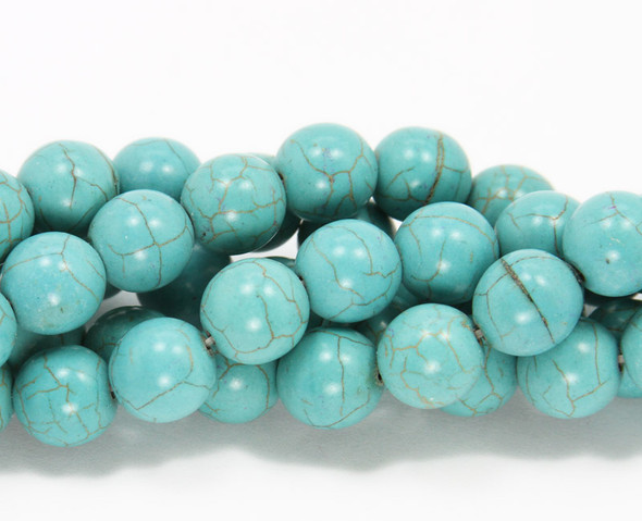 12mm  15 inch strand Turquoise howlite round beads