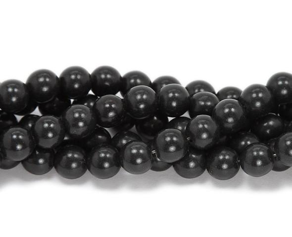 4mm  16 inch strand Black howlite round beads