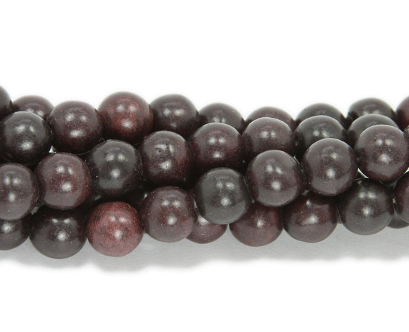 6mm 16 Inch Strand Coffee Colored Howlite Round Beads