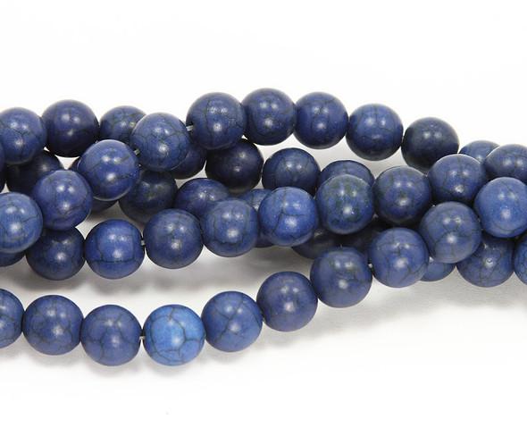 12mm  16 inch strand Lapis blue howlite round beads