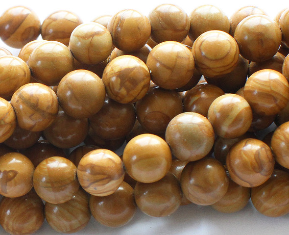 6mm Scene jasper round beads