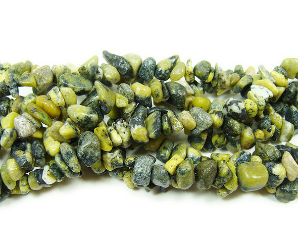 5x6mm  34 inches Yellow turquoise chips
