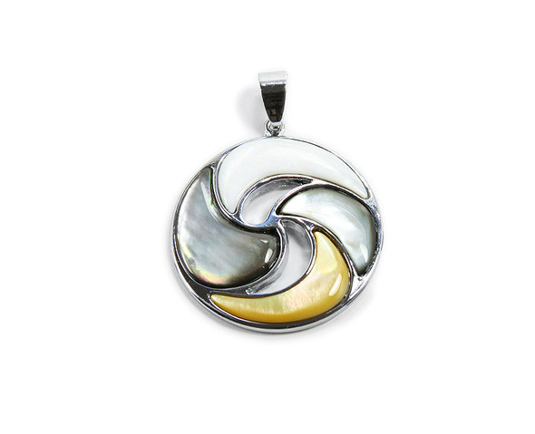 Approx. 35mm Multi Shell Round Pendant