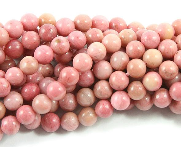 6mm 15.5 Inches Rhodonite Round Beads