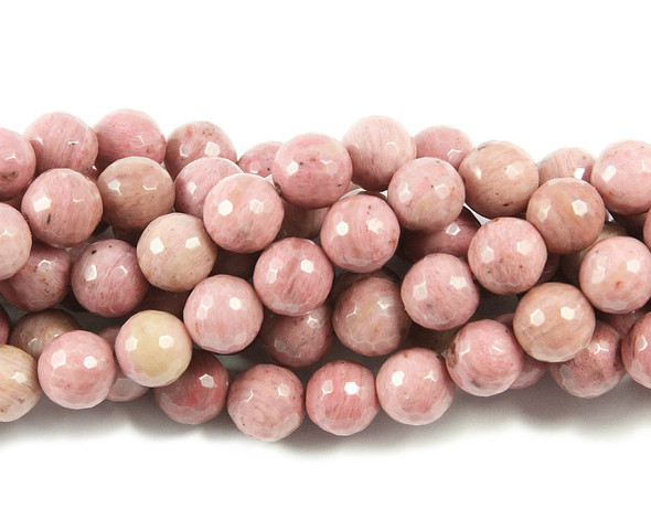 8mm  15.5 inches Rhodonite faceted round beads