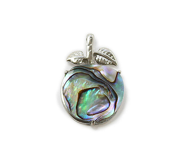 18x25mm Abalone Shell Apple Pendant