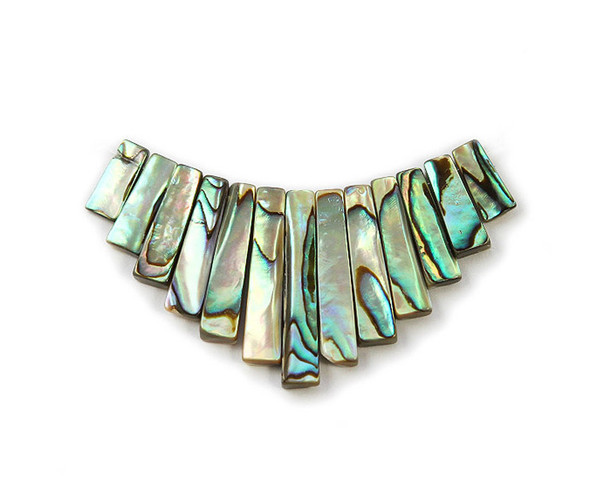 70x30mm  13 pieces Abalone shell stick collar pendant