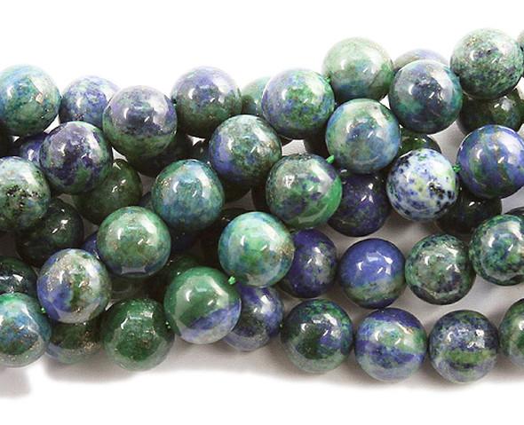 10mm Azurite round beads