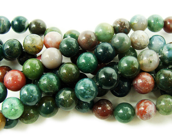 10mm Indian Agate Round Beads