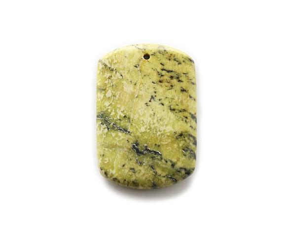 35x50mm Yellow Turquoise Jasper Rectangle Pendant