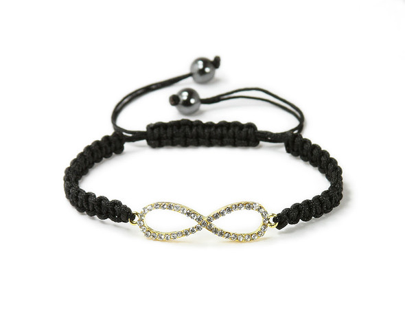 one size fits all Gold CZ infinity bracelet