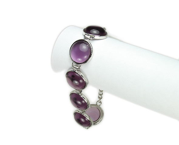 one size fits all Purple quartz round bracelet