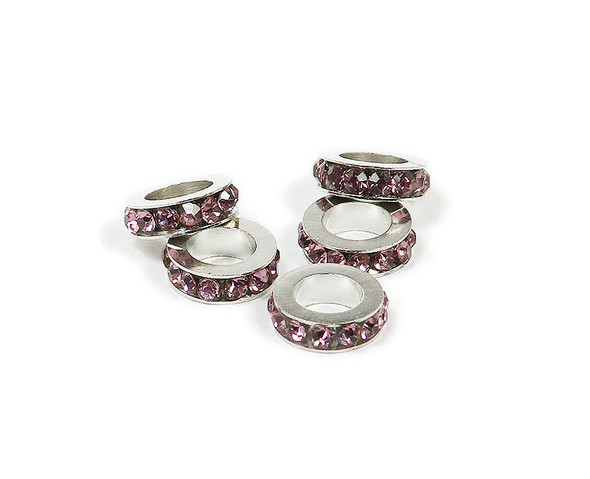 11mm  pack of 5 Light purple CZ large hole wheel spacers