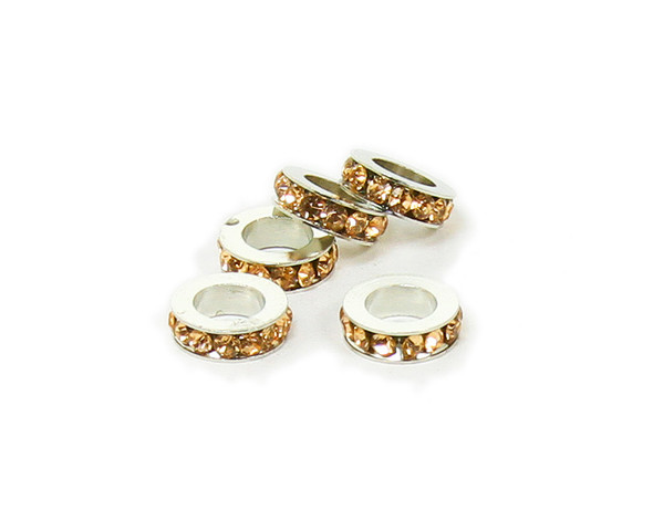 11mm  pack of 5 Golden yellow CZ large hole wheel spacers