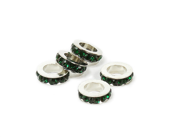11mm  pack of 5 Rainforest green CZ large hole wheel spacers