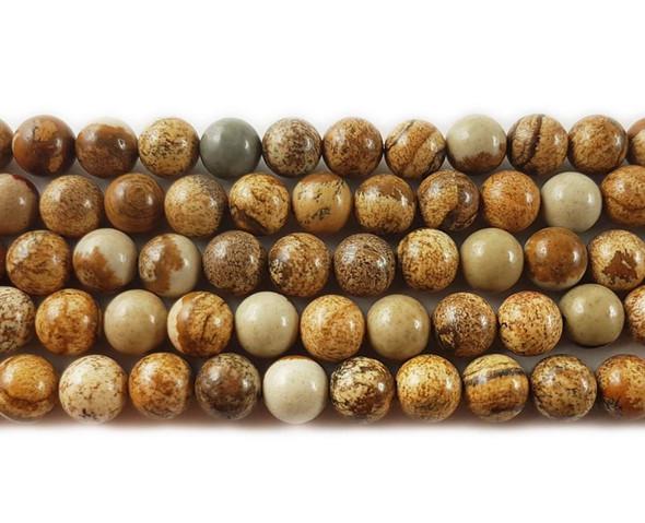 4mm Picture jasper round beads