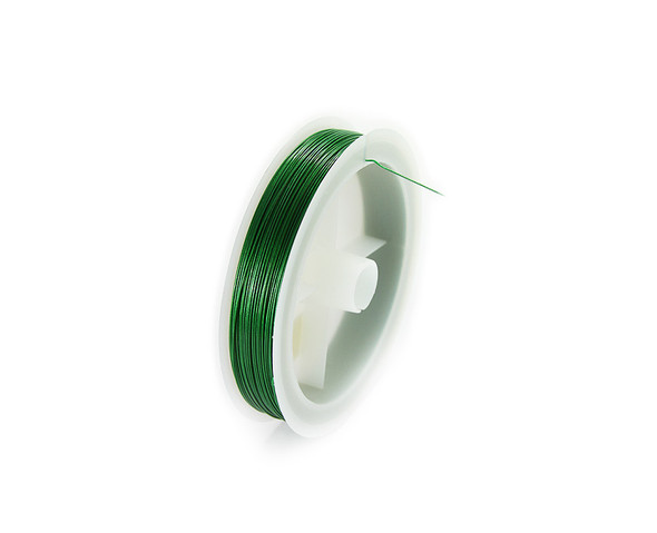 109 yards/100 meters Green 26 gauge wire spool